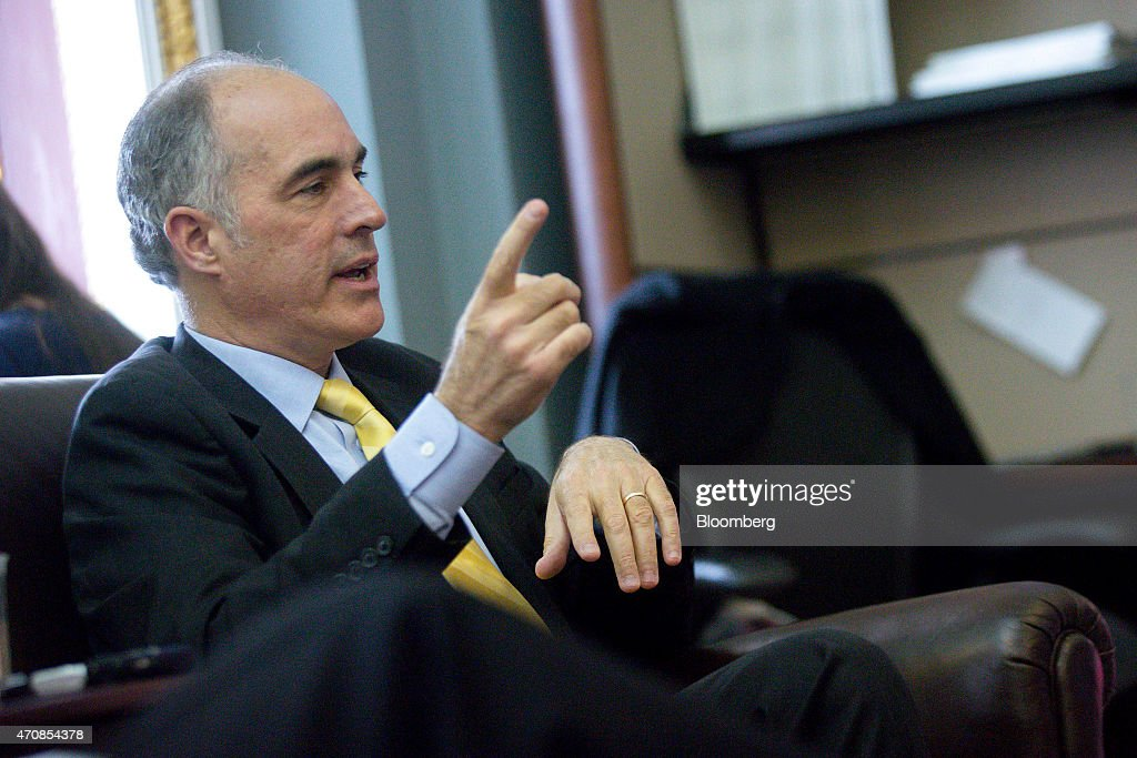 Senator Robert 'Bob' Casey, a Democrat from Pennsylvania, speaks to members of the media about the Trans-Pacific Partnership (TPP) in the Senate Press Gallery at the U.S. Capitol in Washington, D.C., U.S., on Thursday, April 23, 2015. The Senate Finance Committee this week cleared in a 17-9 vote legislation to reauthorize federal assistance for workers whose jobs are threatened by foreign competition, a measure lawmakers said is intended to advance alongside a bipartisan bill that would streamline congressional approval of the controversial Trans-Pacific Partnership trade deal. Photographer: Andrew Harrer/Bloomberg via Getty Images