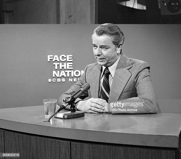 Senator Robert C Byrd appears on Face The Nation the CBS News political interview program Sunday February 16 1975