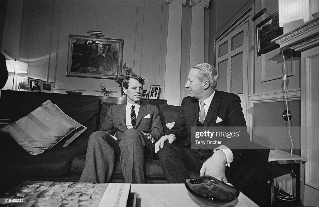 US Senator Robert F Kennedy with British Conservative party leader Edward Heath 28th January 1967