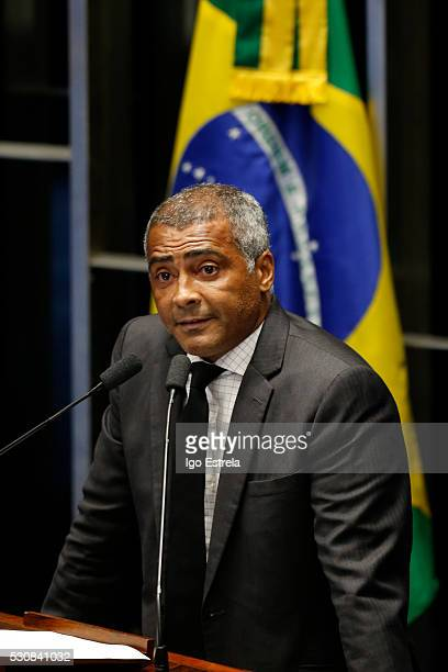 Senator Romario de Souza attends a special session in the Brazilian Senate to vote on whether to accept impeachment charges against embattled...