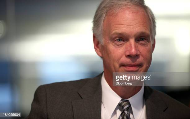 Senator Ron Johnson a Republican from Wisconsin speaks during an interview in Washington DC US on Friday Oct 11 2013 Johnson said at a Bloomberg...