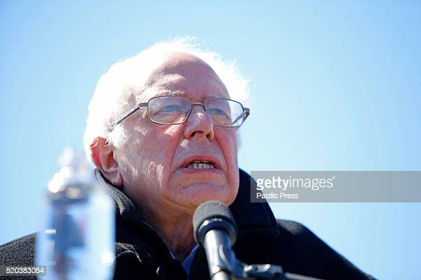 Senator Sanders addresses supporters on Coney Island Boardwalk Democratic presidential candidate Bernie Sanders addressed supporters on the Coney...