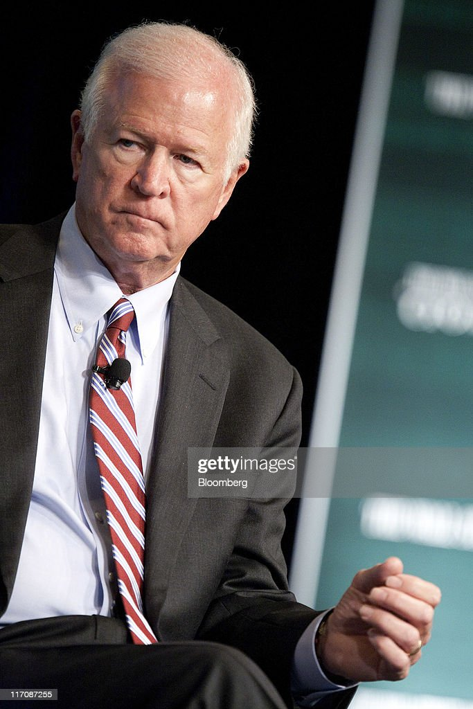 Senator Saxby Chambliss, a Republican from Georgia, listens during the Wall Street Journal CFO Network conference in Washington, D.C., U.S., on Tuesday, June 21, 2011. The Wall Street Journal CFO Network is a new council of chief financial officers from the world's top companies brought together with the mission to develop a strategic agenda for financial leadership in challenging times. Photographer: Joshua Roberts/Bloomberg via Getty Images