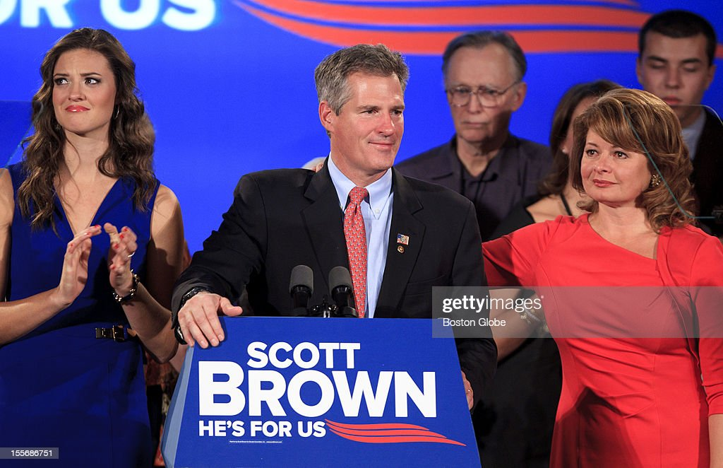 Senator Scott Brown conceded the election for United States Senate to his challenger, democrat Elizabeth Warren, at his election results rally at the Boston Park Plaza Hotel in downtown Boston on election day, Tuesday, November 6, 2012.