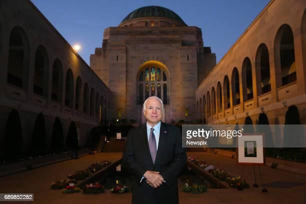 CANBERRA ACT US Senator Senator John McCain attends the Last Post Ceremony at the Australian War Memorial in Canberra Australian Capital Territory