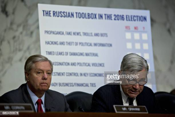 Senator Sheldon Whitehouse a Democrat from Rhode Island and ranking member of the Senate Judiciary Subcommittee on Crime and Terrorism speaks as...