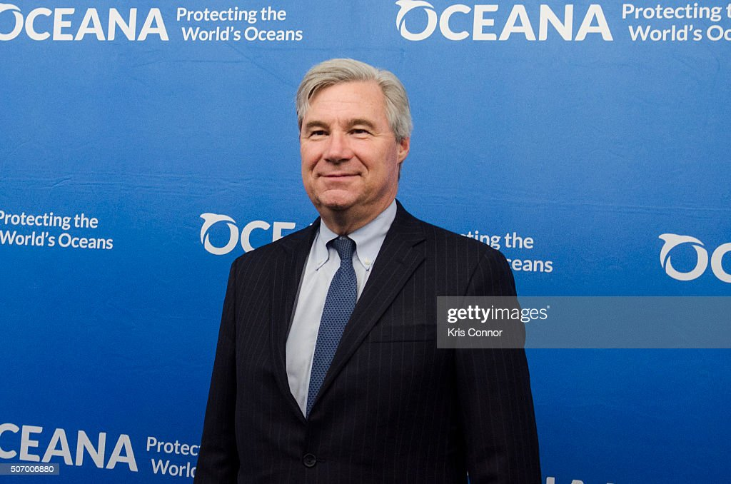 Senator <a gi-track='captionPersonalityLinkClicked' href=/galleries/search?phrase=Sheldon+Whitehouse&family=editorial&specificpeople=599442 ng-click='$event.stopPropagation()'>Sheldon Whitehouse</a> (D-RI) attends the Oceana's Coastal Voices Summit at George Washington University on January 26, 2016.