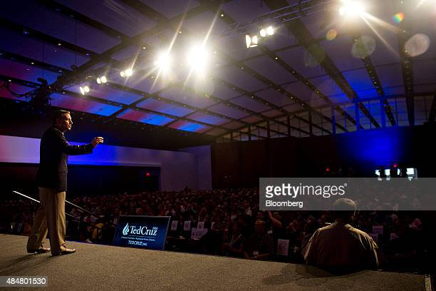 Senator Ted Cruz a Republican from Texas and 2016 presidential candidate speaks at the Rally for Religious Liberty in Des Moines Iowa US on Friday...