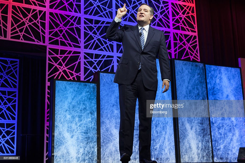 Senator Ted Cruz a Republican from Texas and former 2016 presidential candidate speaks during the 2016 Texas Republican Convention in Dallas Texas US...