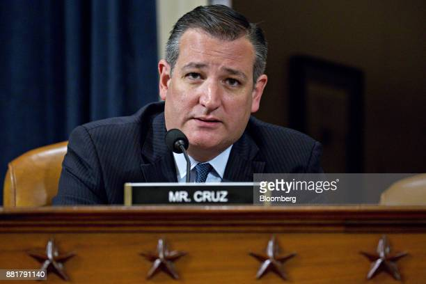 Senator Ted Cruz a Republican from Texas questions Janet Yellen chair of the US Federal Reserve not pictured during a Joint Economic Committee...