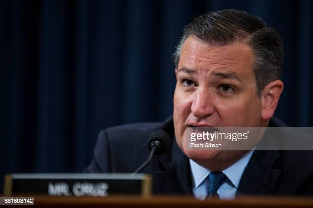 Senator Ted Cruz asks questions as Federal Reserve Chair Janet Yellen testifies during a Joint Economic Committee on Economy Hearing on Capitol Hill...