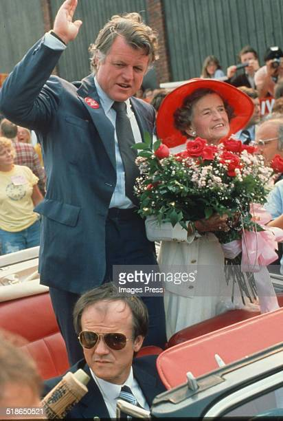 Senator Ted Kennedy and his mother Rose Kennedy attends the 'Rose Parade' benefiting the Special Olympics at the State House on July 20 1980 in...