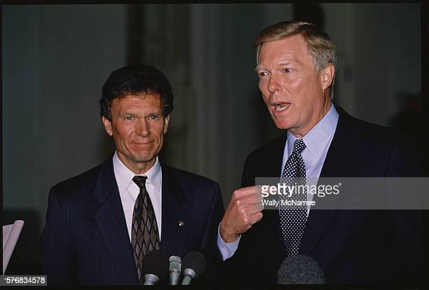 Senator Tom Daschle and Representive Dick Gephardt at a Press Conference
