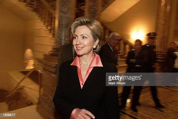 S Senatorelect First Lady Hillary Clinton walks through the US Capitol during an orientation day for new senators December 5 2000 in Washington DC