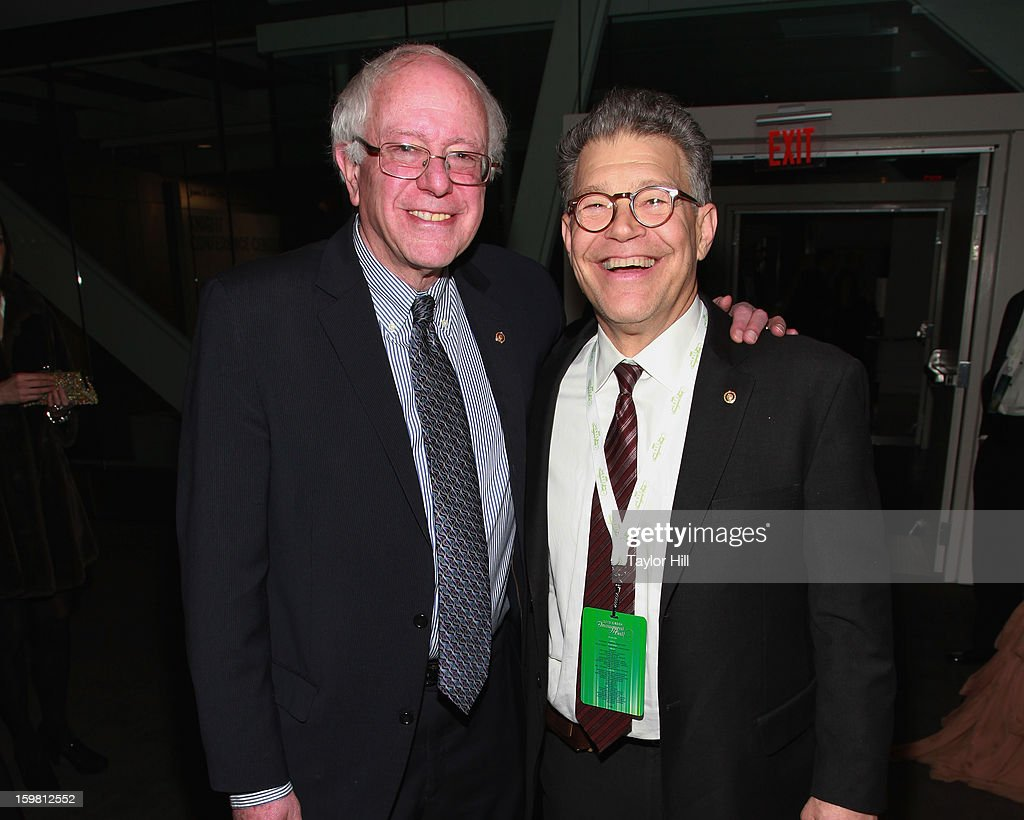 Senators Bernie Sanders IVermont and Al Franken DMinnesota attend theq 2013 Green Inaugural Ball at NEWSEUM on January 20 2013 in Washington DC