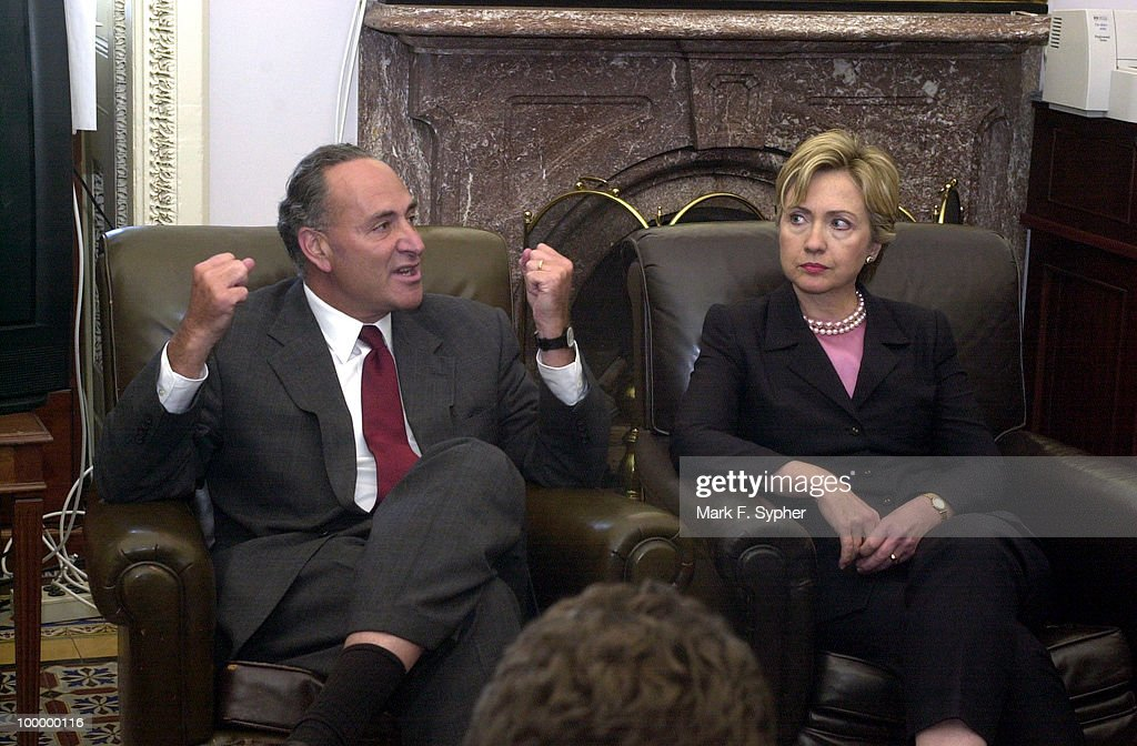 Senators Charles E. Schumer (D-NY) and Hillary Rodham Clinton (D-NY) held a press conference in S-316 shortly before leaving for the accident scene in NY.