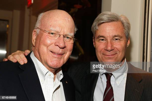 Senators Patrick Leahy and Sheldon Whitehouse attend the 'United Talent Agency Honors White House Correspondents' hosted by Jay Sures Dan Abrams at...