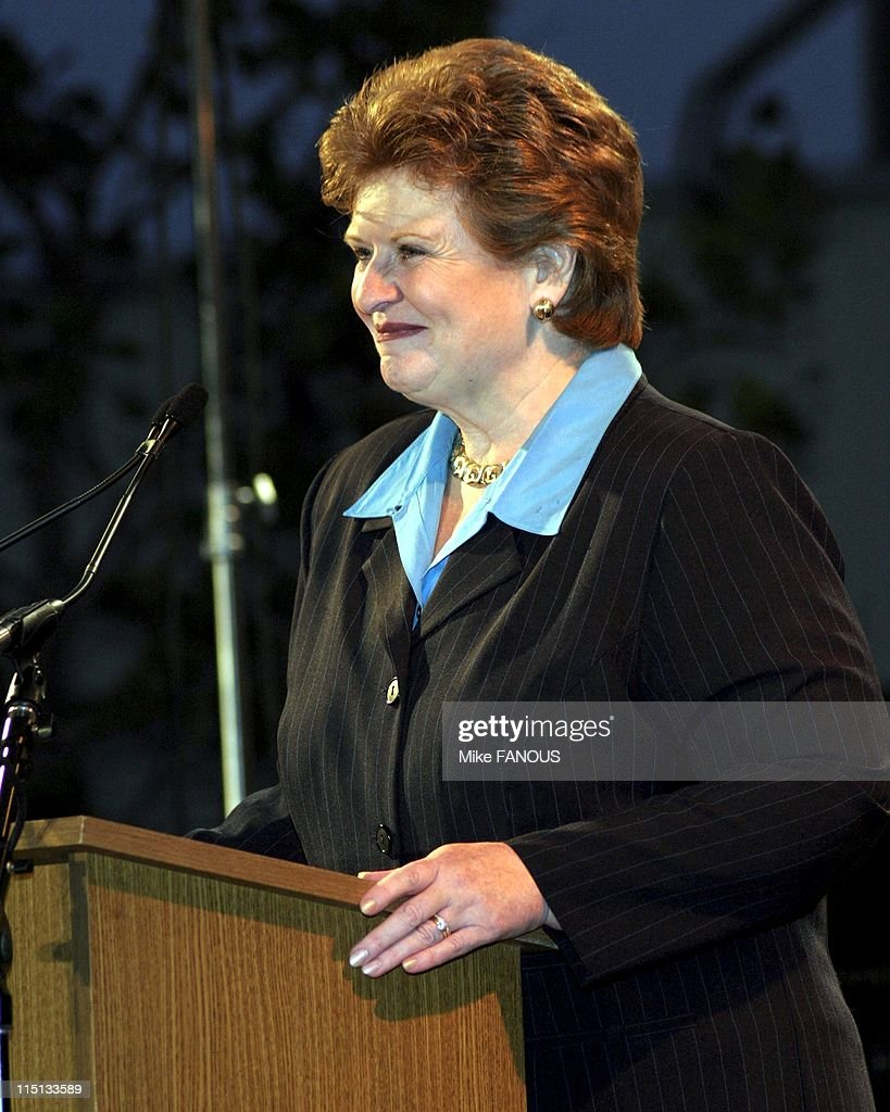 Senators Speak at the'Democracy for the Senate' Rally in Santa Monica United States on October 15 2004 US Senator Debbie Stabenow of Michigan at the...