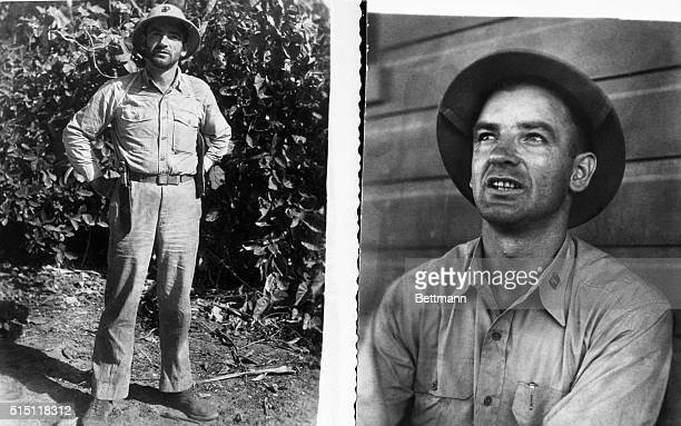 Senatory Joseph McCarthy is shown as a Marine in 1944 after a trip to the front on Bougainville in the Solomon Islands where the Marines were...
