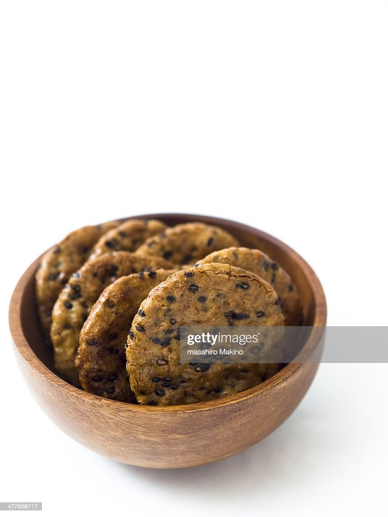 Senbei, Japanese rice crackers : Stock Photo