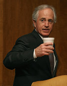 SenBob Corker arrives at a Senate Budget Committee hearing on Capitol Hill February 3 2015 in Washington DC The committee is hearing testimony Office...