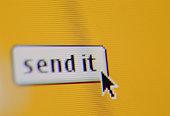 Send it icon and cursor on monitor (Digital)
