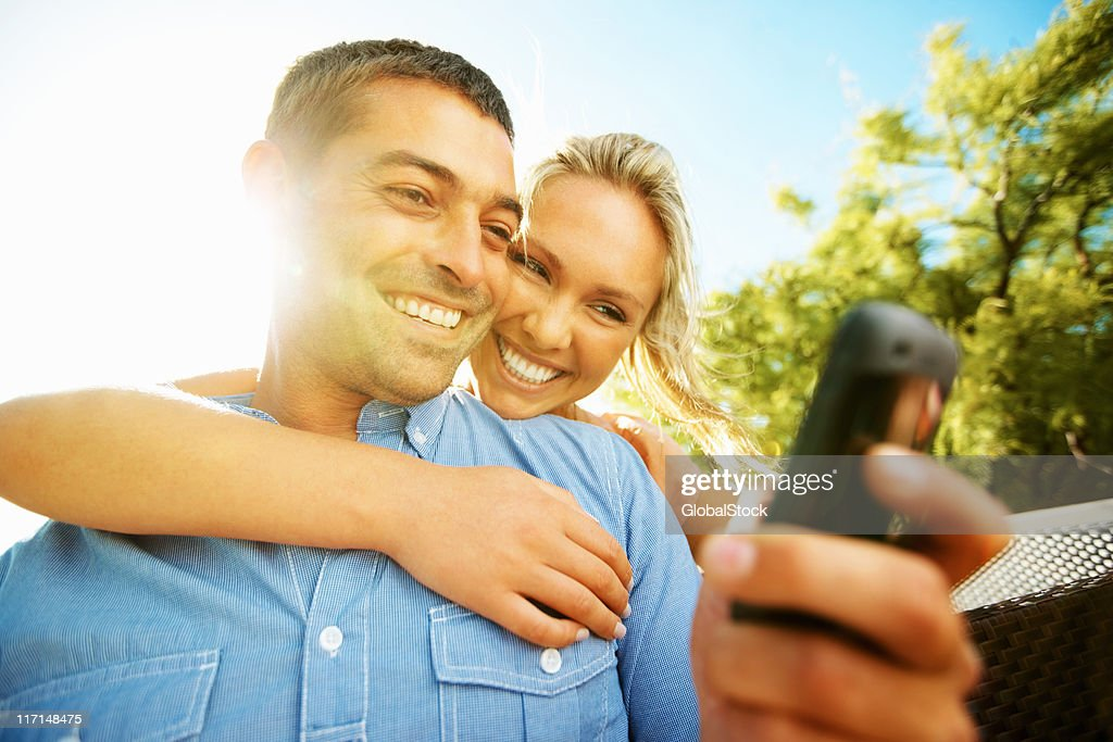 Sending text message : Stock Photo