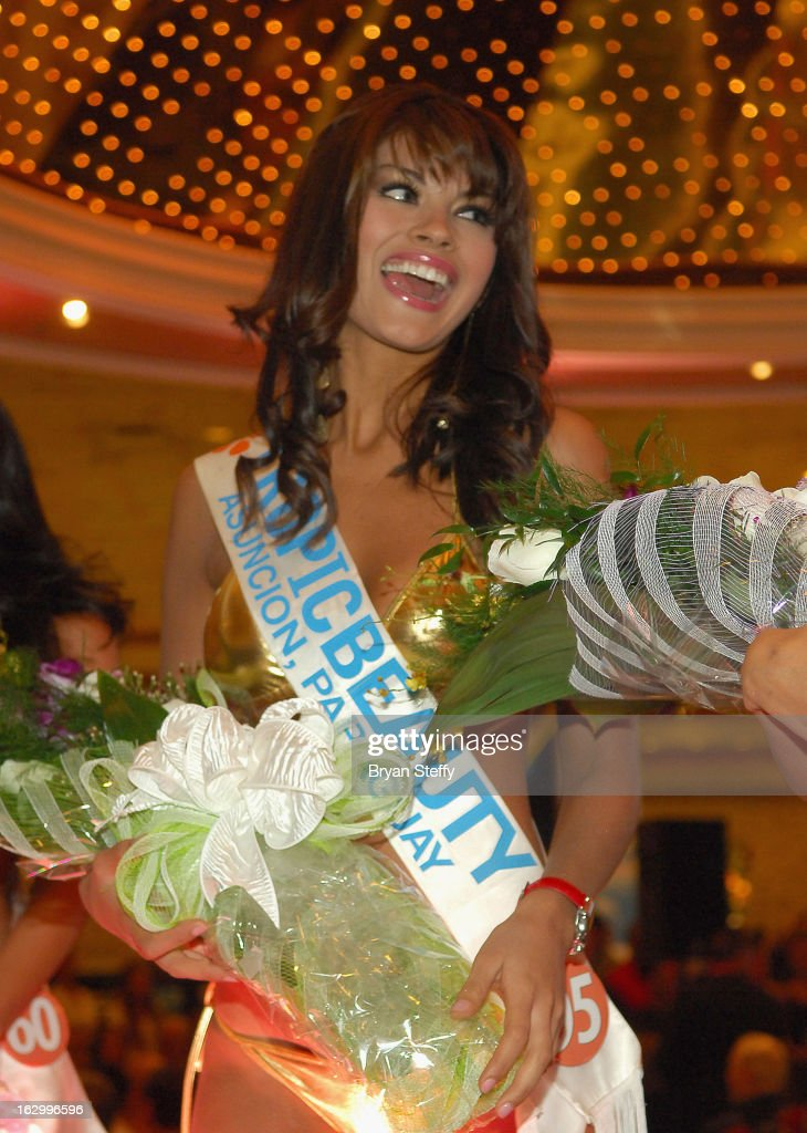 Sendy Caceres of Paraguay competes in the third annual TropicBeauty World Finals at the MGM Grand Hotel/Casino on March 2, 2013 in Las Vegas, Nevada.