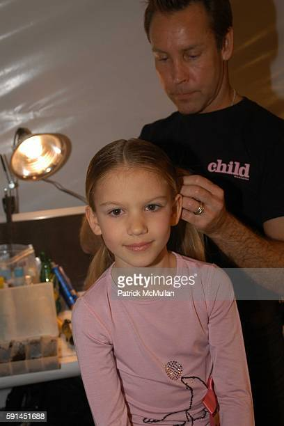 Seneca attends Child Magazine Fashion Show at The Atelier Tent at Bryant Park on February 7 2005 in New York City