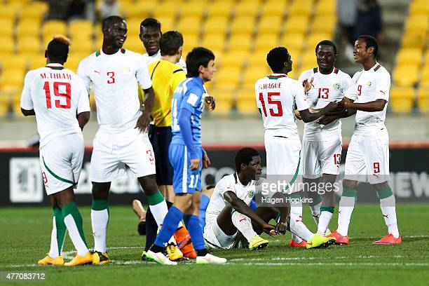 Senegal celebrate the win during the FIFA U20 World Cup New Zealand 2015 quarterfinal match between Senegal and Uzbekistan at Wellington Regional...