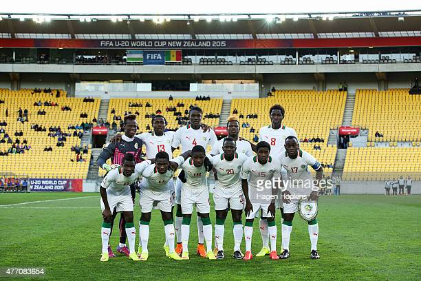 Senegal pose for a team photo during the FIFA U20 World Cup New Zealand 2015 quarterfinal match between Senegal and Uzbekistan at Wellington Regional...