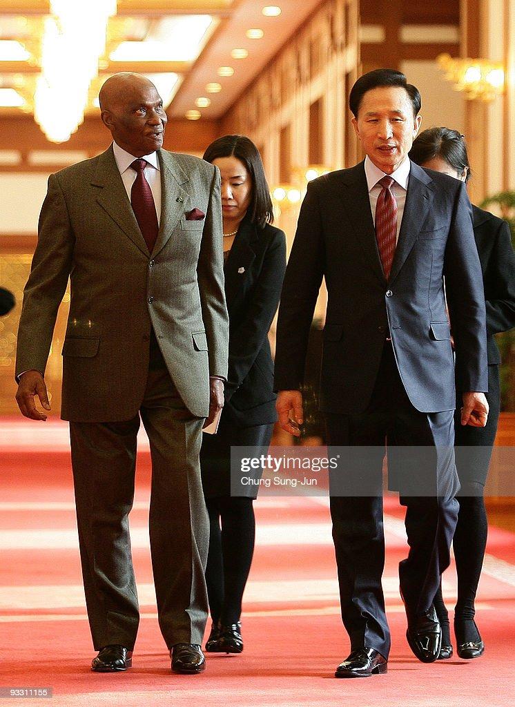 Senegal President Abdoulaye Wade Visits South Korea
