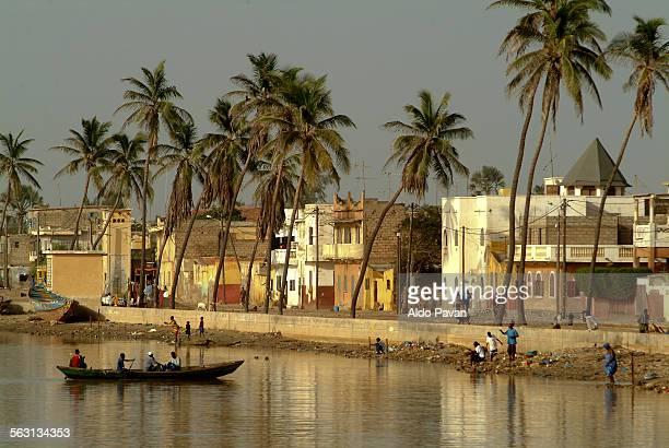 Senegal, Saint Louis, view of the river bank