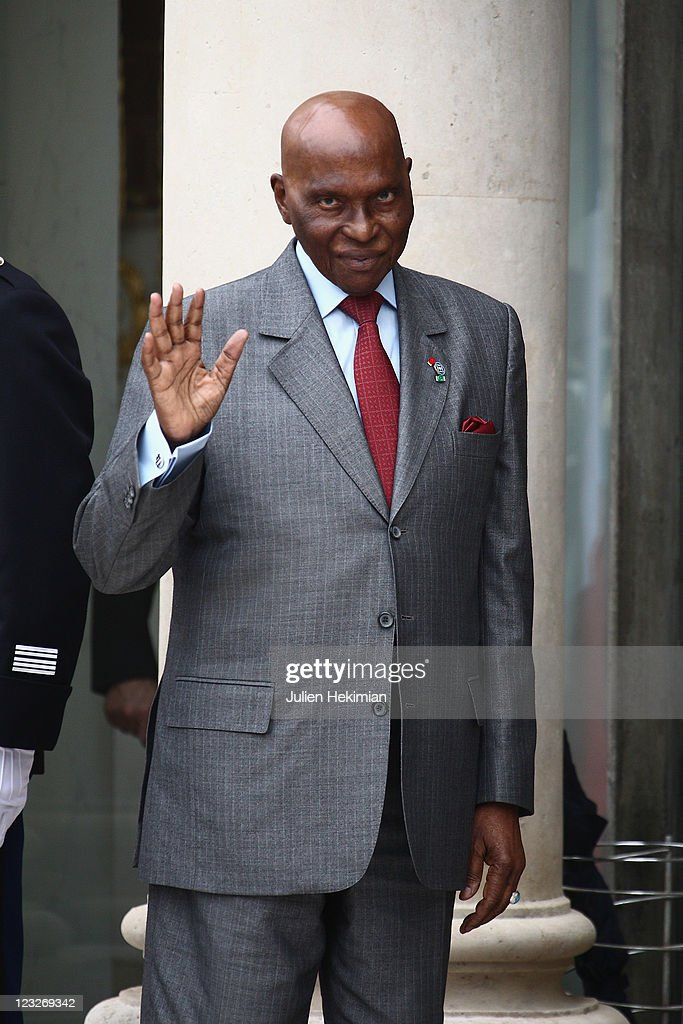 Senegalese President <a gi-track='captionPersonalityLinkClicked' href=/galleries/search?phrase=Abdoulaye+Wade&family=editorial&specificpeople=209316 ng-click='$event.stopPropagation()'>Abdoulaye Wade</a> attends the 'Friends of Libya' International Conference at Elysee Palace on September 1, 2011 in Paris, France. The international meeting, chaired by President Sarkozy, is expected to hear the constitutional plan outlined by the Libyan National Transitional Council.