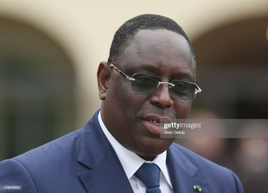 Senegalese President <a gi-track='captionPersonalityLinkClicked' href=/galleries/search?phrase=Macky+Sall&family=editorial&specificpeople=598630 ng-click='$event.stopPropagation()'>Macky Sall</a> attends the Outreach program on the second day of the summit of G7 nations at Schloss Elmau on June 8, 2015 near Garmisch-Partenkirchen, Germany. In the course of the two-day summit G7 leaders are scheduled to discuss global economic and security issues, as well as pressing global health-related issues, including antibiotics-resistant bacteria and Ebola.
