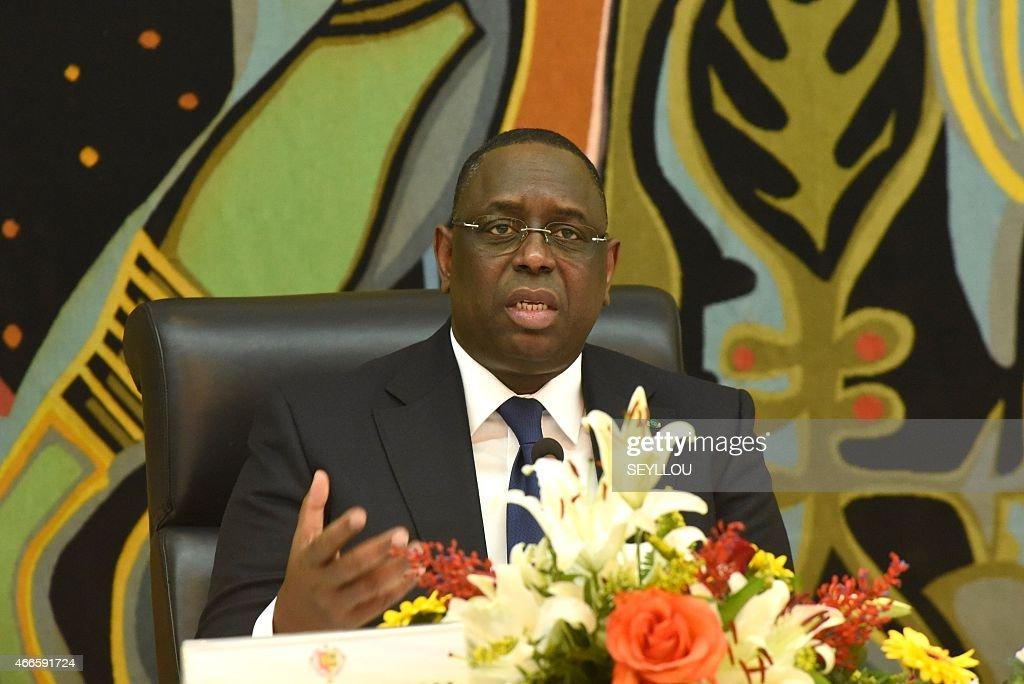 SENEGAL-POLITICS-PRESSER : Nyhetsfoto