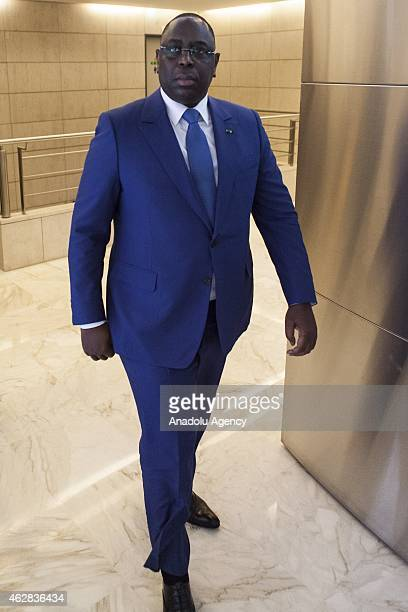 Senegalese President Macky Sall is seen ahead of FrancoAfrican forum at the Economy Ministry in Paris on February 6 2015