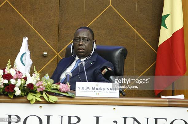 Senegalese president Macky Sall is seen during the 10th session of the Organization of Islamic Cooperation Standing Committee for Information and...