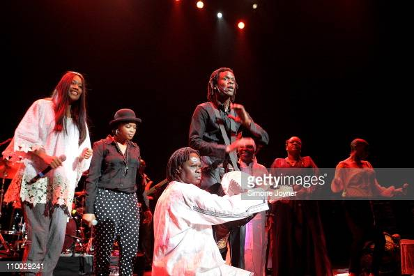 Senegalese singer Baaba Maal performs live on stage during the 'Baaba Maal In Praise of The Female Voice' concert at the Royal Festival Hall on March...
