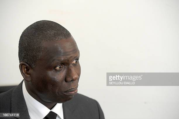 Senegalese special prosecutor of the nation's anticorruption court Alioune Ndao speaks during a press conference on April 16 2013 in Dakar a day...