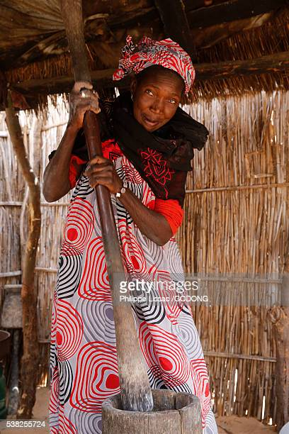 Senegalese woman working.