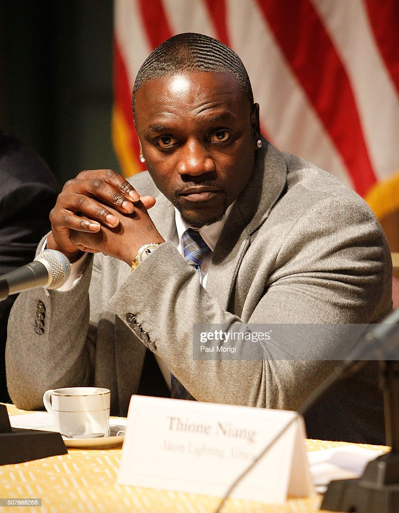 Akon Attends An African Energy Initiative Discussoin