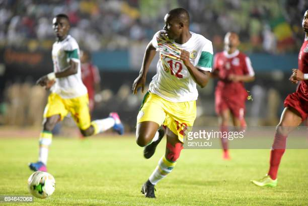 Senegal's Babacar Khouma plays during the 2019 Africa Cup of Nations qualifying football match between Senegal and Equatorial Guinea in Dakar on June...