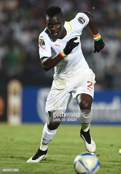 Senegal's defender Kara Mbodj runs after the ball during the 2015 African Cup of Nations group C football match between South Africa and Senegal in...