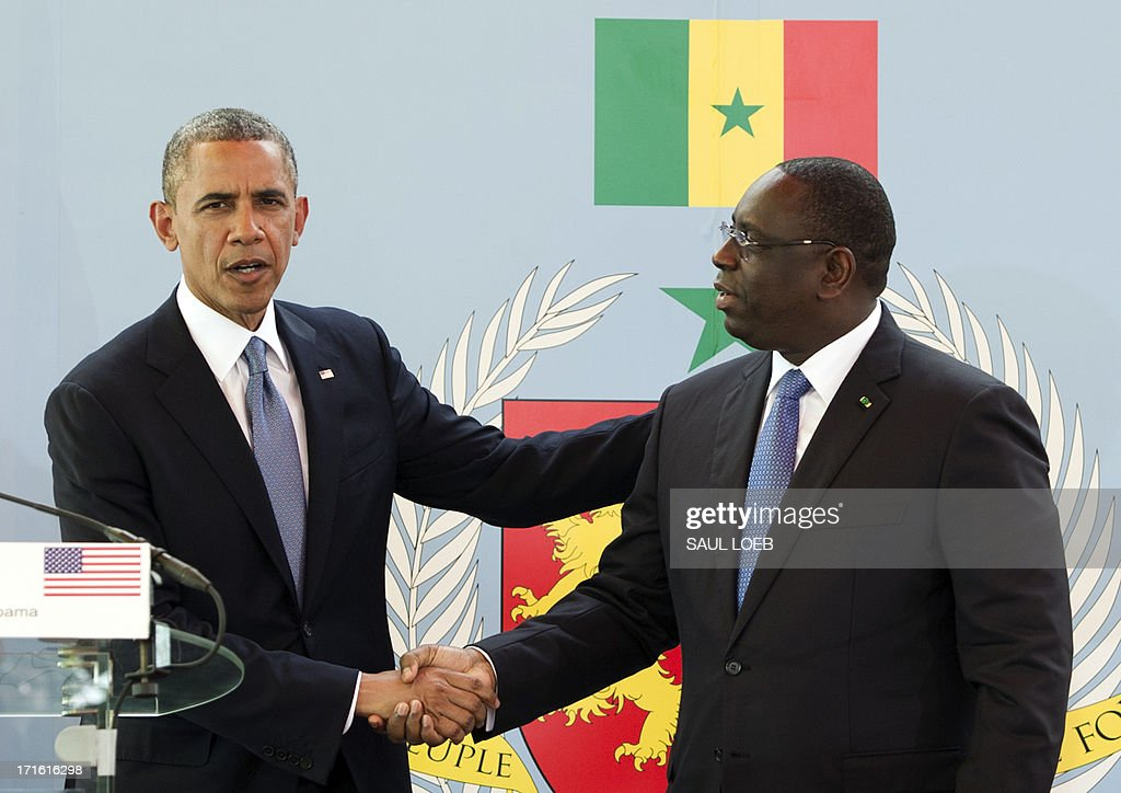 SENEGAL-US-SALL-OBAMA : Nyhetsfoto