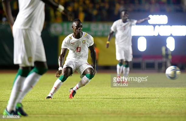 Senegal's Sadio Mane vies for the ball during the World Cup 2018 qualifier match Senegal versus Cape Verde on October 8 2016 at the Leopold Sedar...