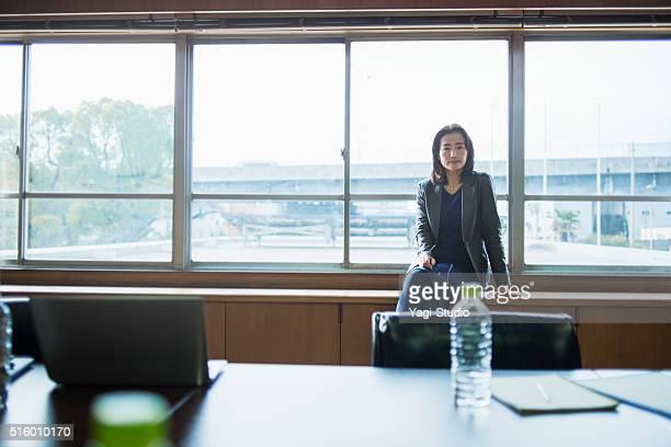 Senior adult businesswoman of the portrait