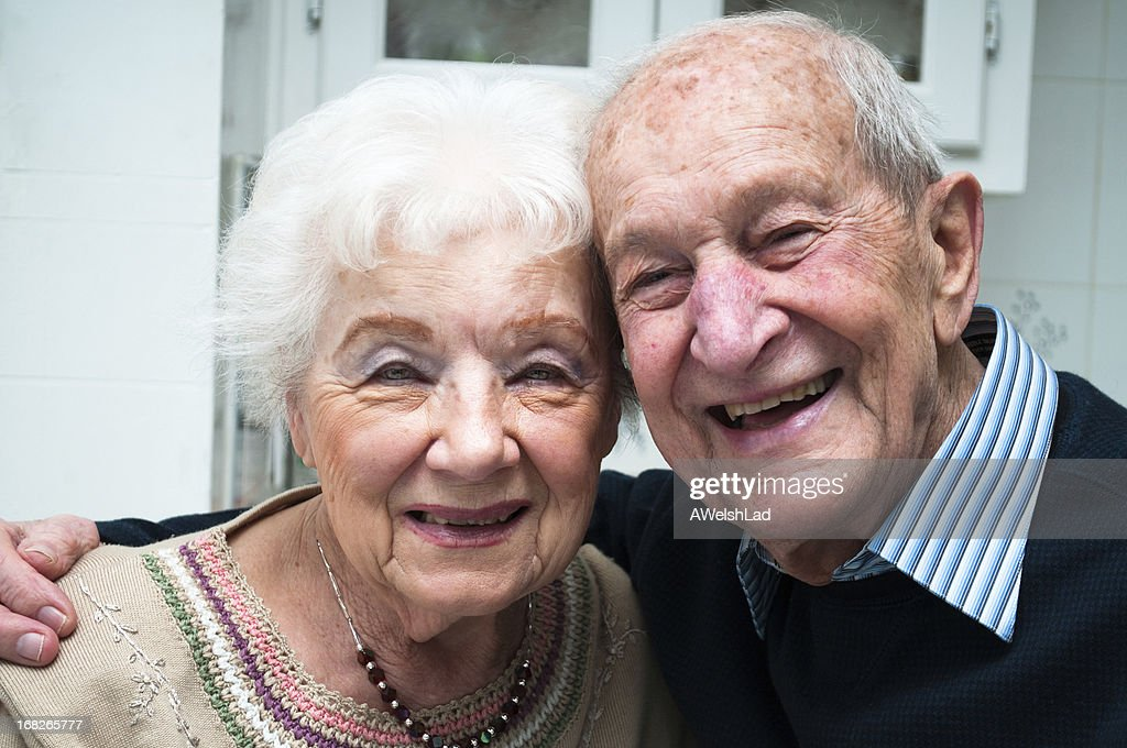 Senior Adult Couple Portrait Laughing Together
