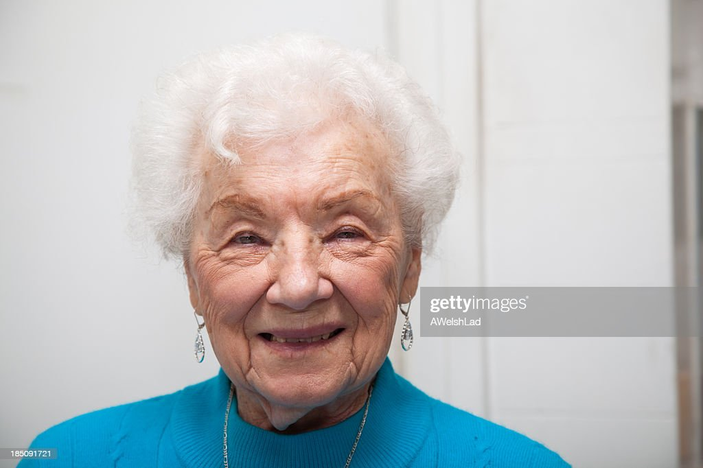 Senior adult female portrait; she is 89 years old.