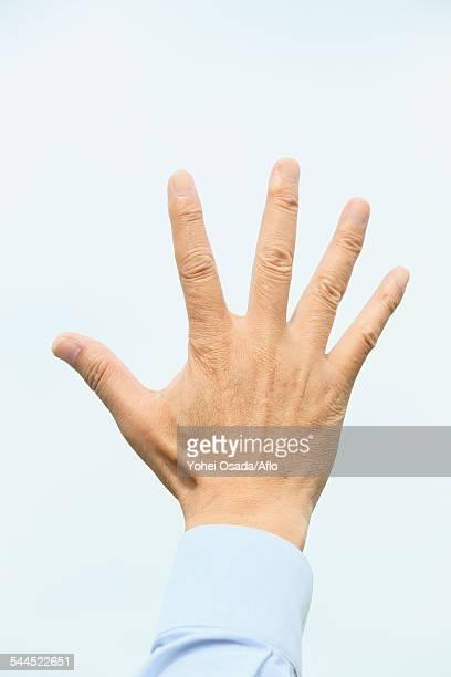 Senior adult man hand